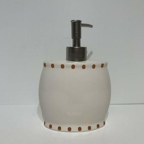 Avanti Dogs Lotion Brushed Metal Pump - Ceramic -