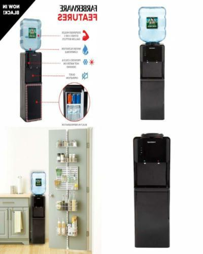 Freestanding Hot and Cold Water Cooler Dispenser with Refrig