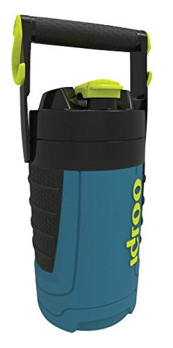 Igloo 1/2 Gallon Insulated Hydration Jug, Ice Blue/Black, 64