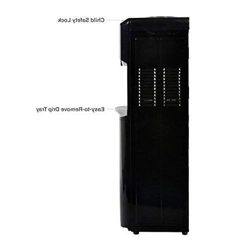 Lago Load Hot, Cold Black Water Cooler Dispenser