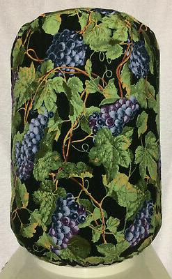 NEW Grapes on Black Water Cooler Cover, 5 gallon bottle