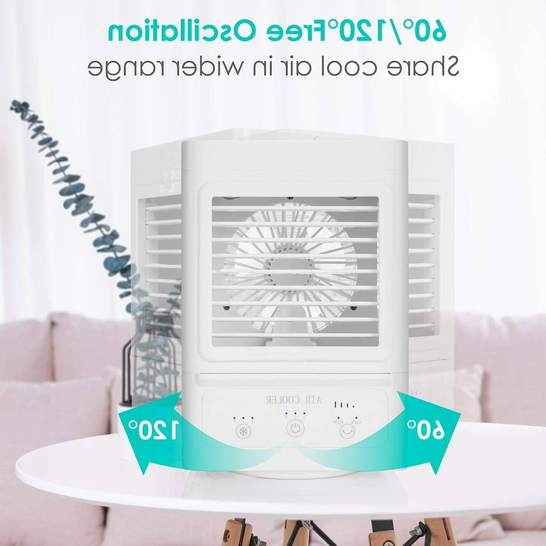 Portable Box Fan w/ Ice Water Desktop Evaporative Fan