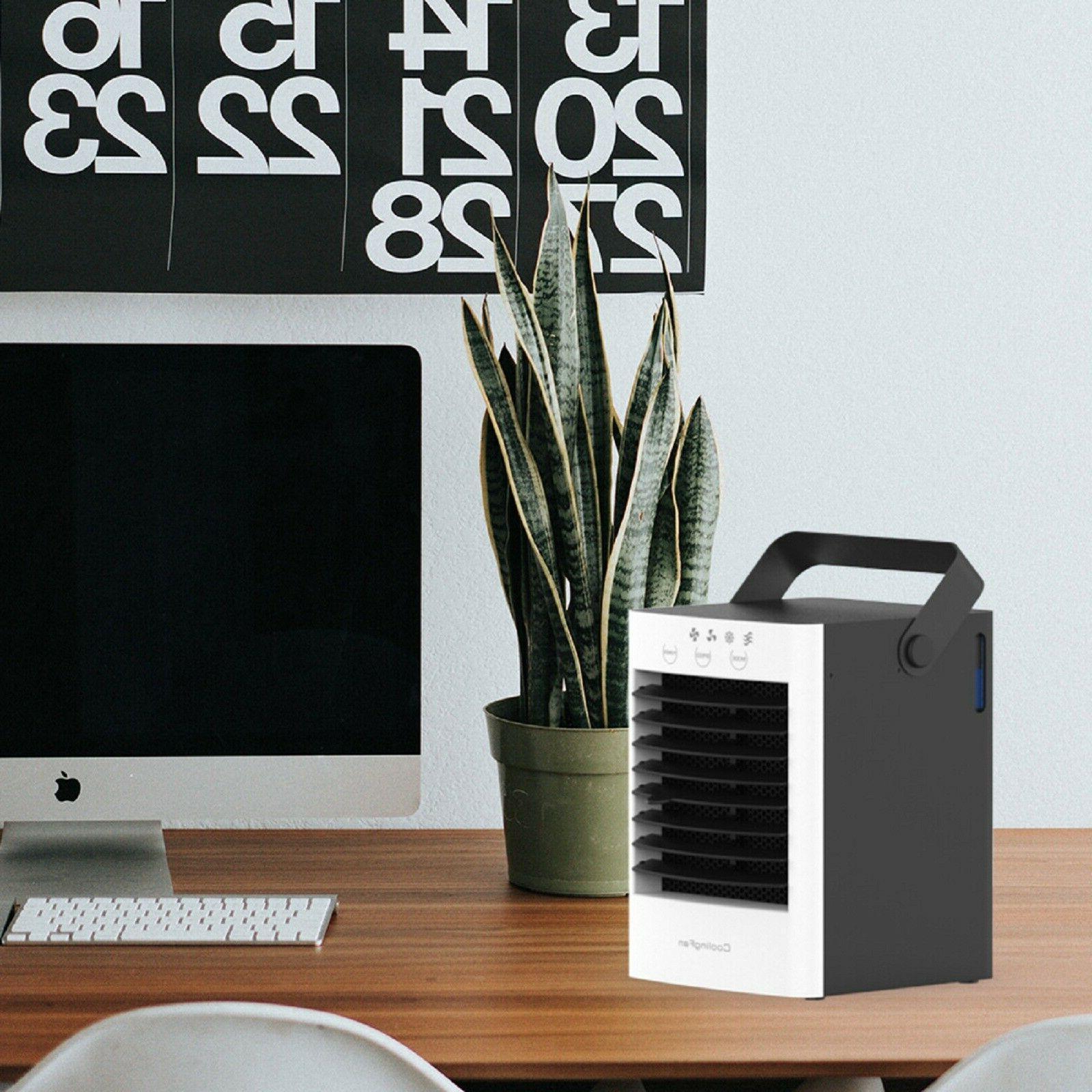 Portable Table Top Box Fan Water Humidifier