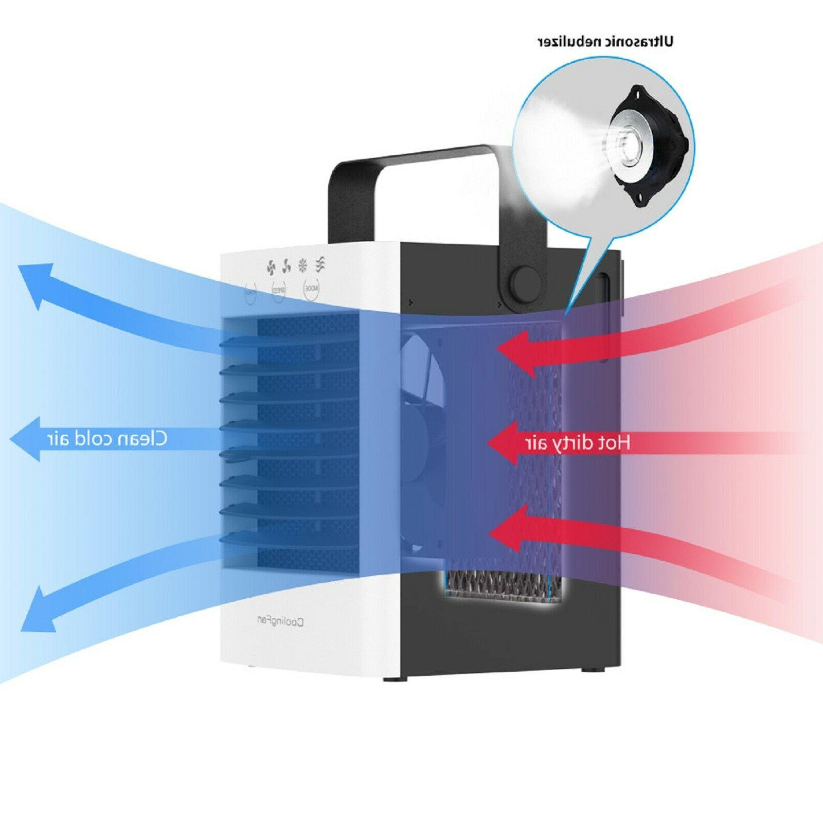 Portable Table Box Fan Air Water Humidifier