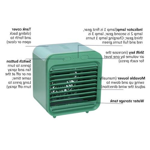 Portable USB Water-cooled Air Desktop Cooler