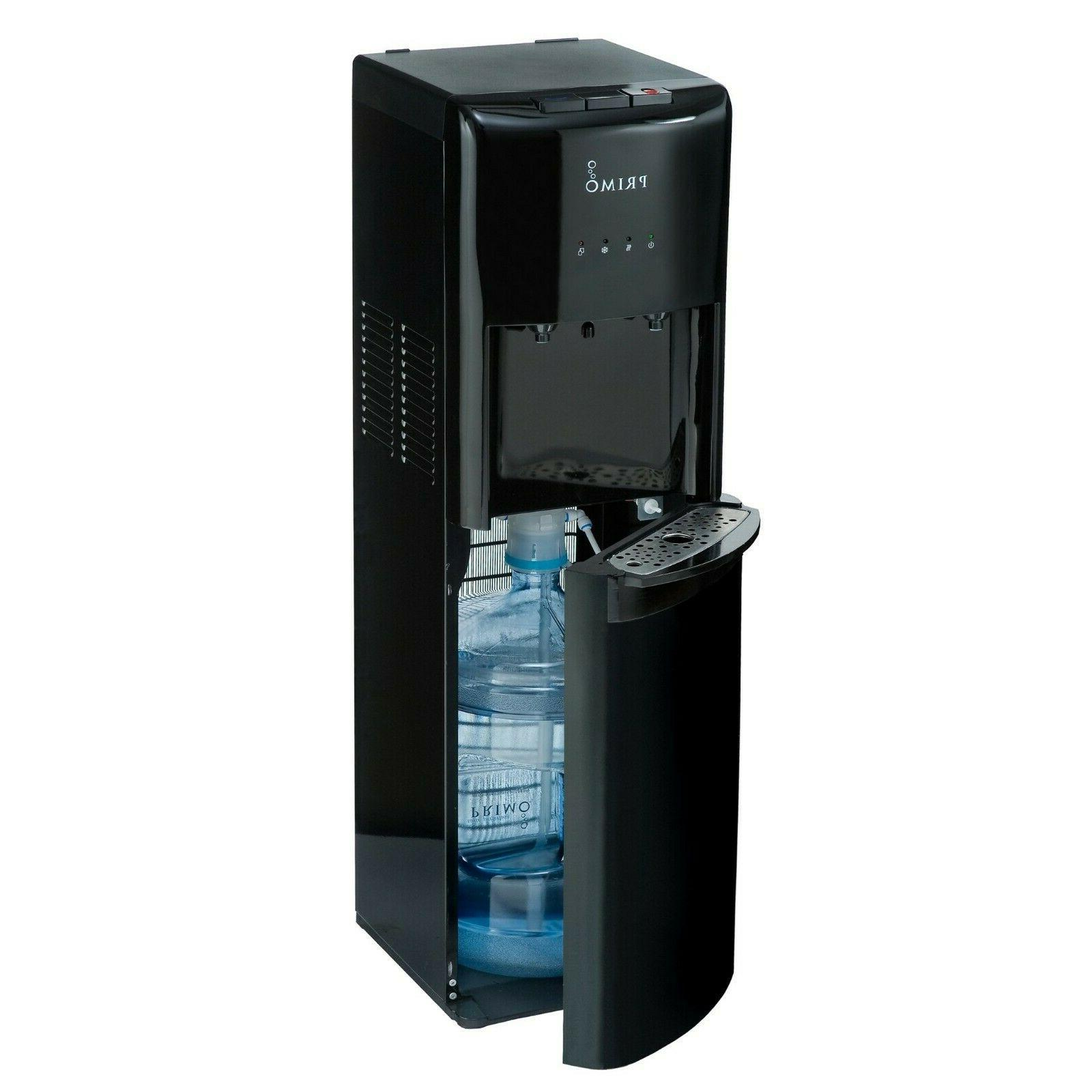 primo 2 spout water dispenser black hot