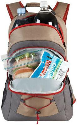 Coleman Soft Cooler Backpack 28-Can Picnics, BBQs, Camping,
