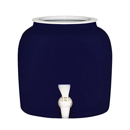 solid blue porcelain ceramic water