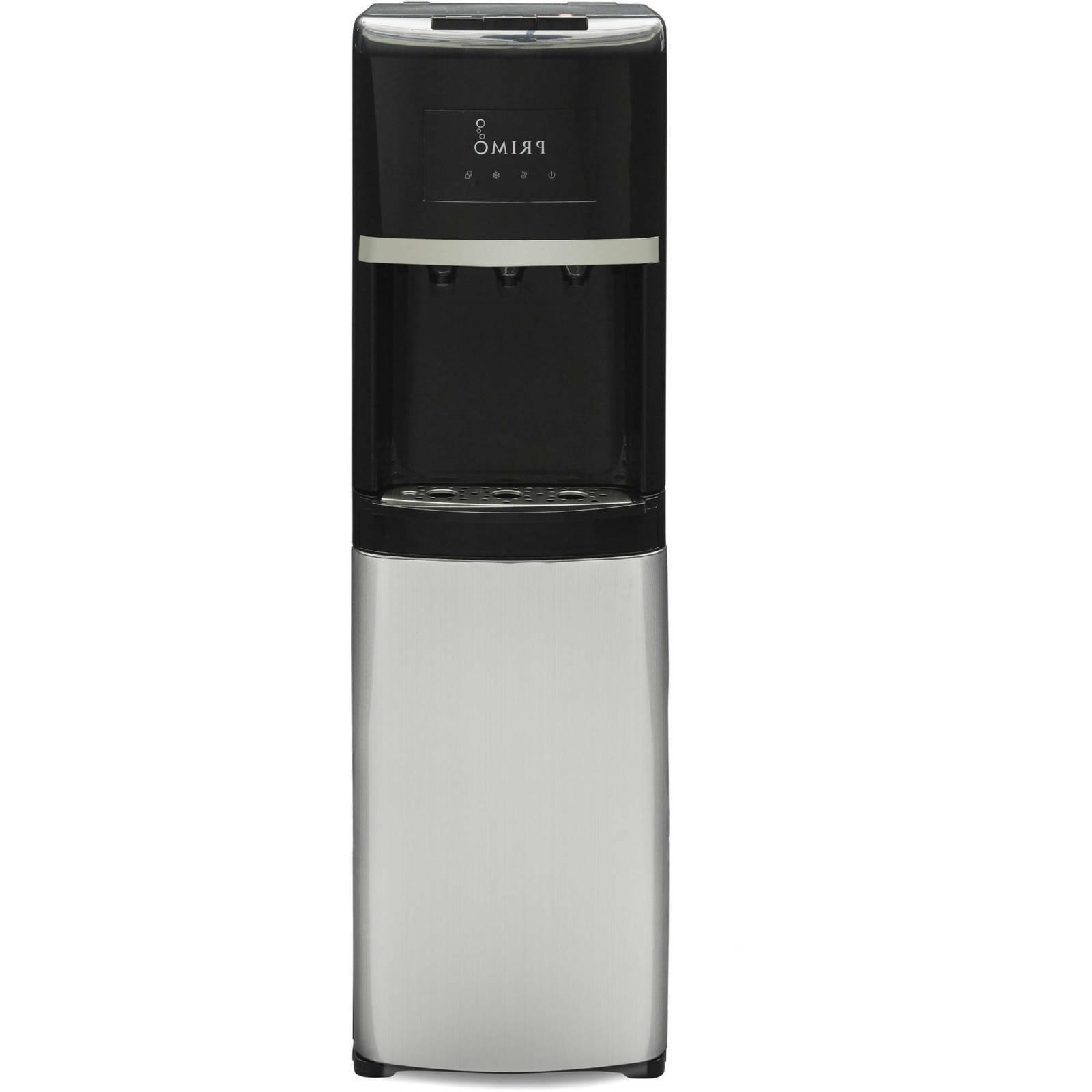 Primo Stainless Steel & Black Bottom Load Bottled Water Disp