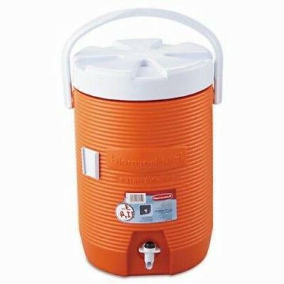 "Rubbermaid® Water Cooler, 12 1/2"" Dia X 16 3/4H, Orange"