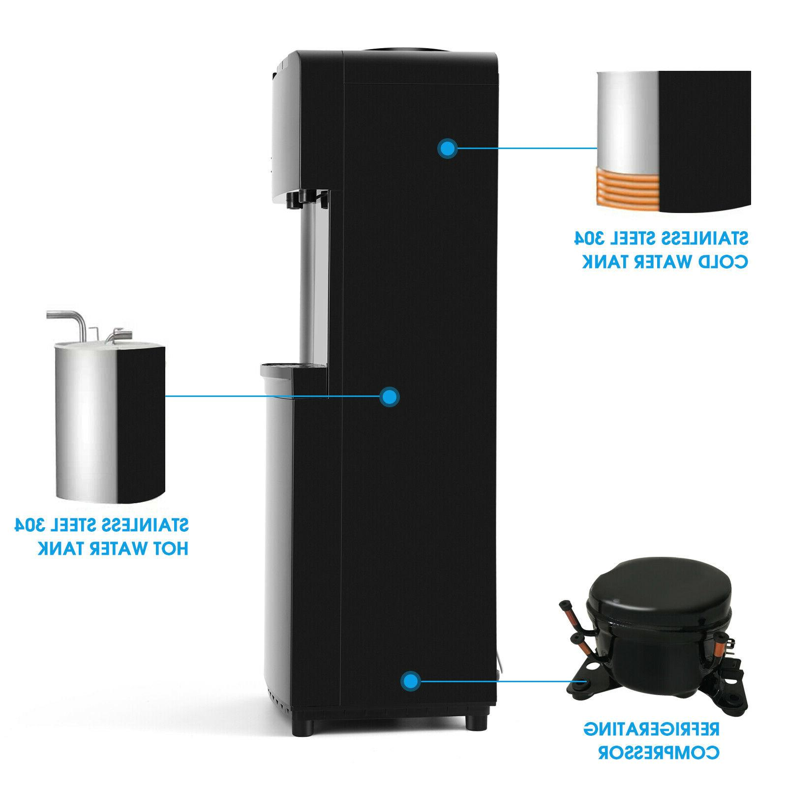 Water Dispenser Cooling Steel Hot/Cold w/Child Lock