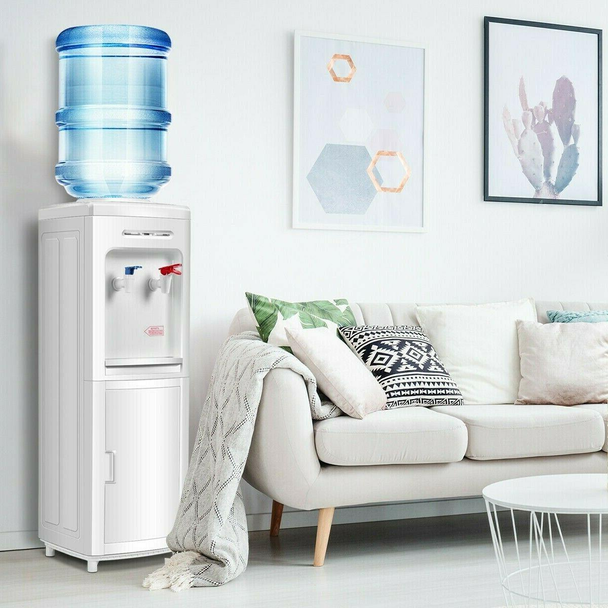 Top Loading Water Cooler Dispenser Freestanding with Storage