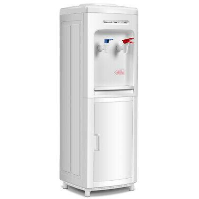 Hot Cold Water Top Loading Water Cooler Dispenser for 3-5 Ga