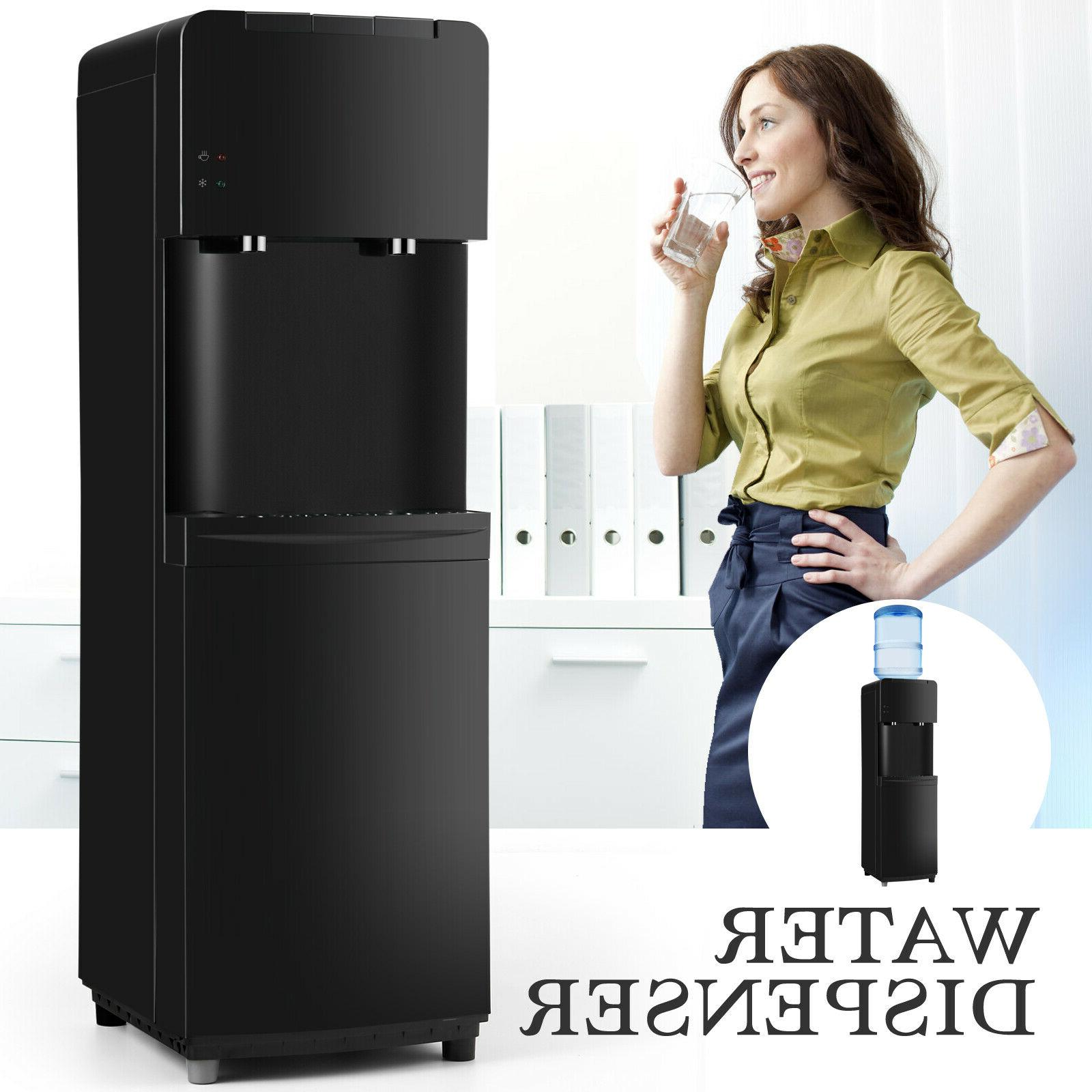 Water Cooler Dispenser Compressor Cooling Stainless Steel w/Child