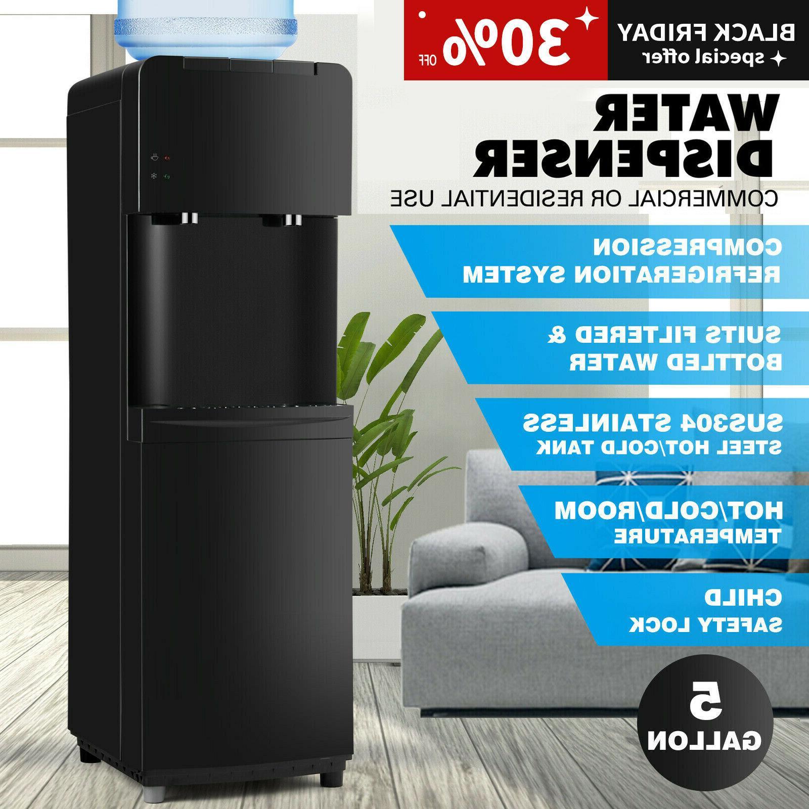 water cooler dispenser compressor cooling stainless steel