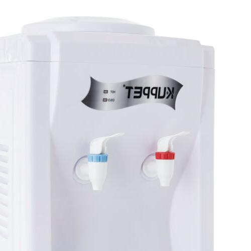 5 Electric Freestanding Hot/Cold Water Cooler Dispenser White