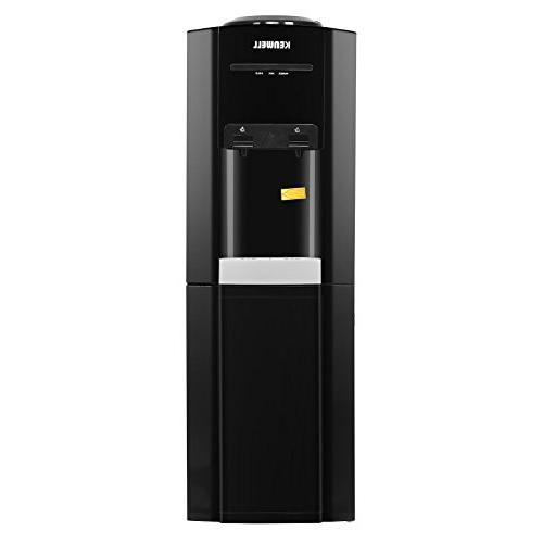 KUPPET 5 Cooler Dispenser-Top Loading Freestanding Water with Cabinet, Temperature Settings-Hot, Normal