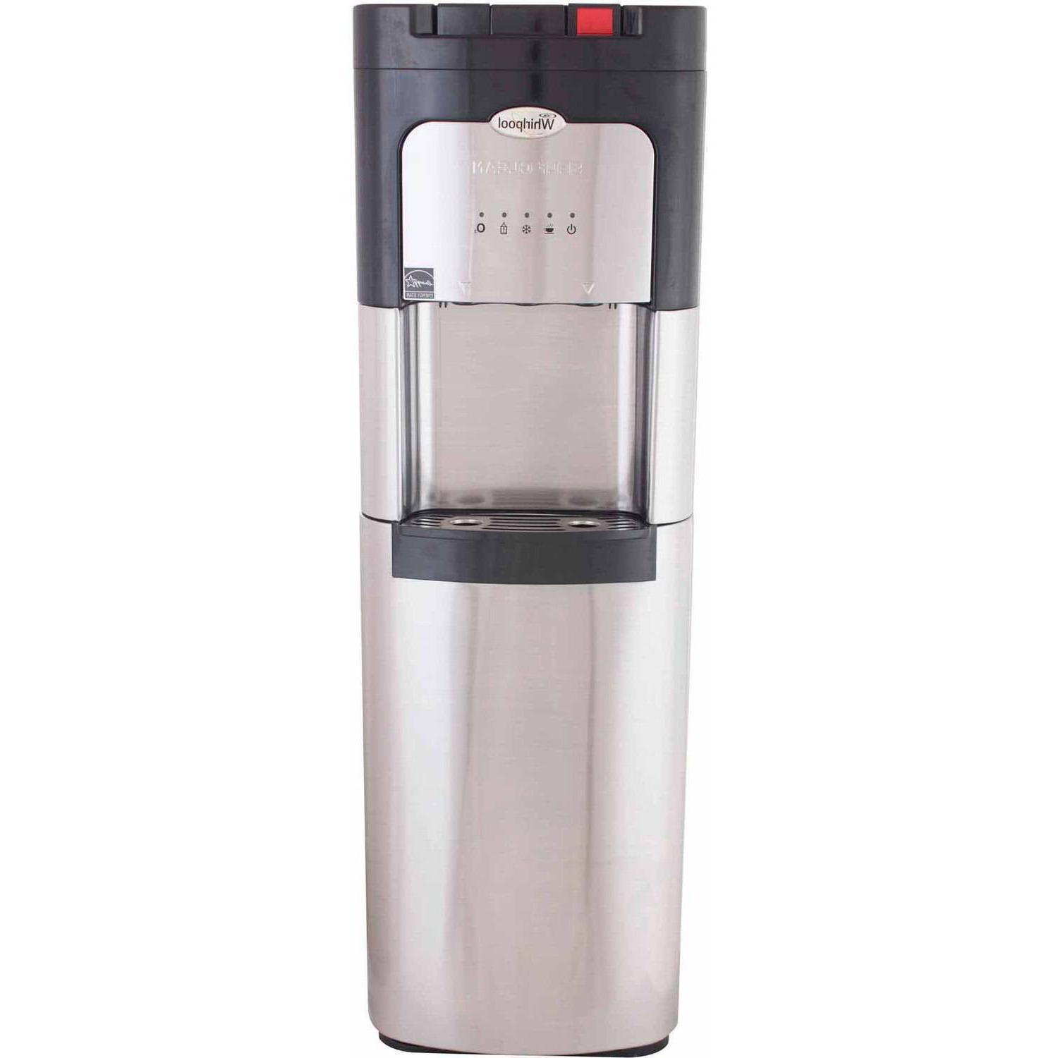 water cooler hot cold stainless steel dispenser