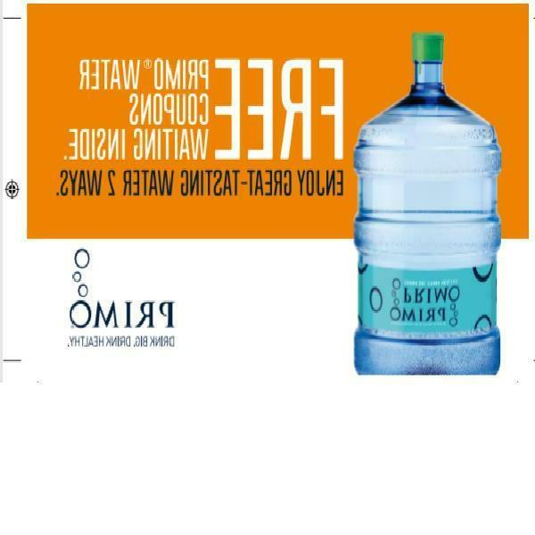 Primo Top Water Dispenser, White Water Cooler, 3 Gallon Bo