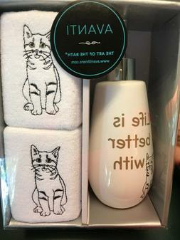 Avanti Life Is Better With A Cat Lotion Pump Dispenser & 2 F
