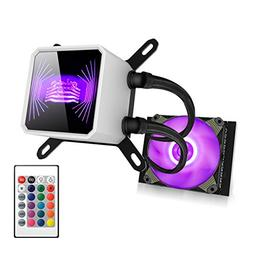 Liquid CPU Cooler, Aigo RGB LED 120mm Liquid CPU Cooler Radi