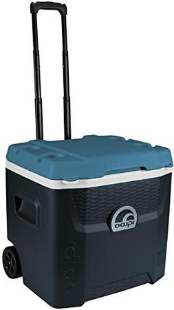 Igloo Max Cold Quantum 52 Quart Roller Cooler, Jet Carbon/Ic