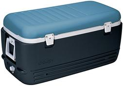 Igloo MaxCold Cooler, Jet Carbon/Ice Blue/White, 100 Quart