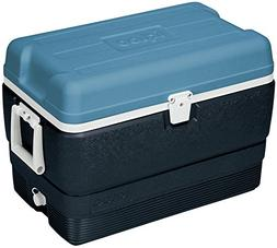 Igloo MaxCold Stainless Steel Cooler 50 qt. Blue/White-Mfg#
