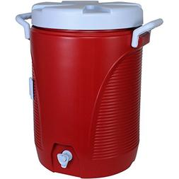 Rubbermaid 5 gal. Modern Red Cooler with Cup Dispenser