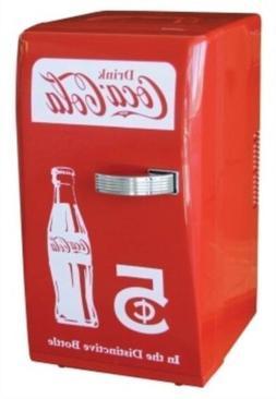 Retro Red Coca Cola Coke Mini Fridge Compact Personal Refrig