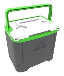 Igloo Profile 16 Quart Cooler, Meteorite/Green, 16 Qt / 15 L