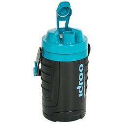Igloo Proformance 1 Quart Beverage Jug, Black/Turquoise