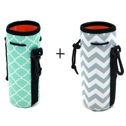 Protable Neoprene Insulated Water Drink Bottle Cooler Carrie