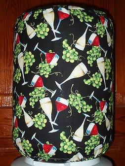 RED & WHITE WINE GRAPES 5 GALLON WATER COOLER BOTTLE COVER K