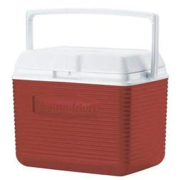 Rubbermaid 10 Qt. Red Chest Cooler Holds 12 Cans Plus Ice