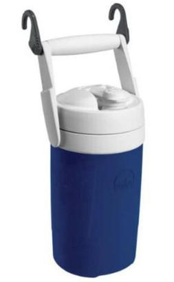 Igloo Sport Half-Gallon Water Jug With Hooks, Blue/White 1/2
