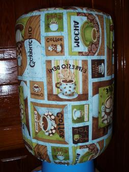 TEAL COFFEE EXPRESSO CUP 5 GALLON WATER COOLER BOTTLE COVER