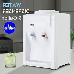 500W Electric Hot Warm Water Cooler Dispenser Desktop 3-5 Ga
