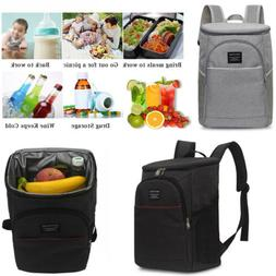 US 20L Insulated Cooling Lunch Box Bag Backpack Picnic Campi