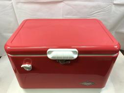 Coleman Vintage Steel Belted Cooler, Rose, 54 quart