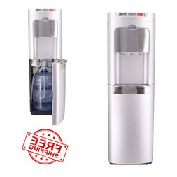 Water Cooler Dispenser Bottom Load Hot Cold Silver Stainless