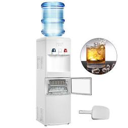Electric Water Cooler Dispenser Built in Ice Maker White Hot