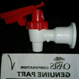 White Cooler Faucet, Red Touch Guard - Replaces Oasis 032135